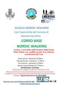 corso nordic walking 2015