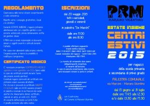 CENTRI ESTIVI FRONTE 2015