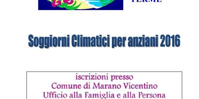 Soggiorni climatici per anziani | Marano Vicentino